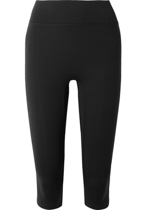 All Access - Center Stage Cropped Stretch Leggings - Black
