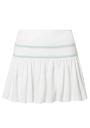 L'Etoile Sport - Pleated Stretch-jersey Tennis Skirt - White