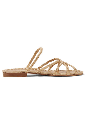 Carrie Forbes - Noura Braided Raffia Sandals - Beige