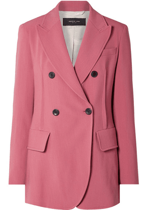 Derek Lam - Oversized Double-breasted Stretch-crepe Blazer - Pink
