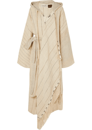 Loewe - + Paula's Ibiza Oversized Hooded Linen-blend Robe - Ivory