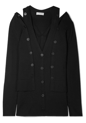 Altuzarra - Tramonti Layered Merino Wool Cardigan - Black