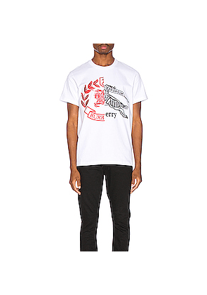 Burberry Soleford Graphic Tee in White