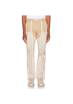 Fear of God Nylon Double Front Work Pant in Neutrals,White