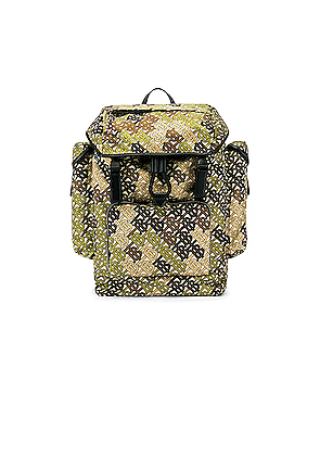 Burberry Ranger Monogram Camo Backpack in Abstract,Green