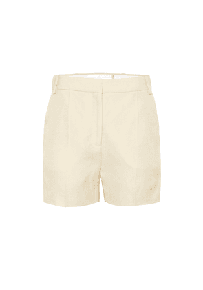 Tailored linen-blend shorts