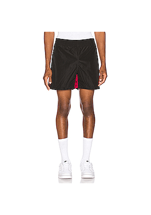 Wales Bonner Football Shorts in Black,Red