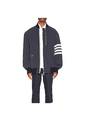 Thom Browne Oversized Double Zip Jacket in Blue