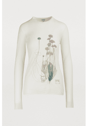Long-sleeved botanical T-shirt