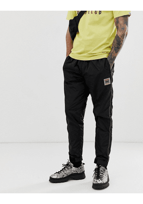 Billionaire Boys Club nylon trackpant with embroidered logo in black