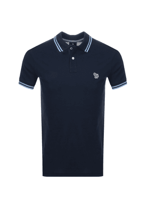 PS By Paul Smith Slim Fit Zebra Polo T Shirt Navy