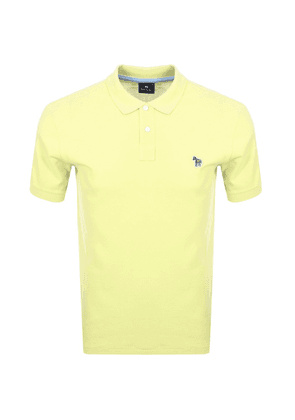 PS By Paul Smith Zebra Polo T Shirt Yellow