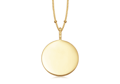 Large Round Disc Necklace