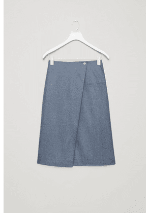 A-LINE SKIRT WITH ASYMMETRIC FOLD