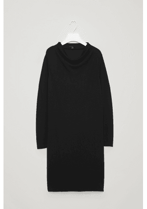 A-LINE DRESS WITH GROWN-ON NECK