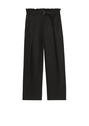 Relaxed Lyocell Trousers - Black