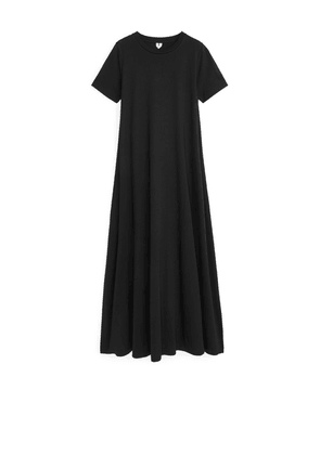 Long T-shirt Dress - Black