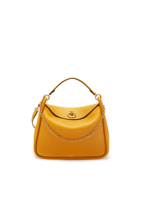 Mulberry Leighton in Deep Amber Small Classic Grain