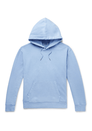 J.Crew - Garment-dyed Loopback Cotton-jersey Hoodie - Light blue