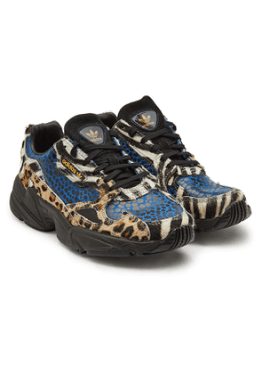 Adidas Originals Falcon Sneakers with Haircalf and Printed Leather