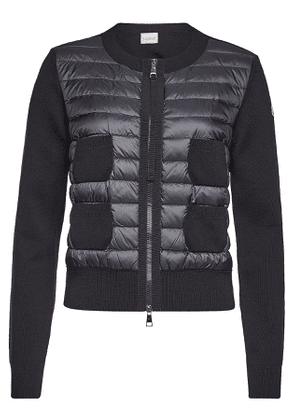 Moncler Down-Filled Quilted Front Cardigan