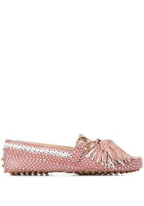 Tod's classic loafers with tassel detailing - Pink