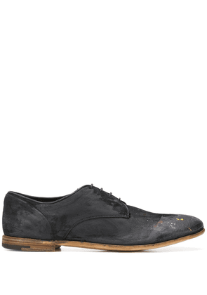 Premiata Grazian distressed oxford shoes - Black