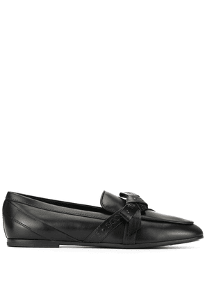 Tod's bow embellished loafers - Black