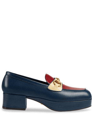 Gucci Horsebit platform loafers - Blue