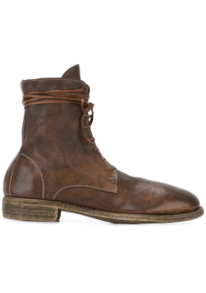 Guidi lace-up boots - Brown