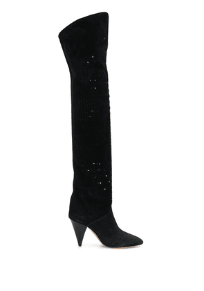 Isabel Marant Lurrey 90 over-the-knee boots - Black