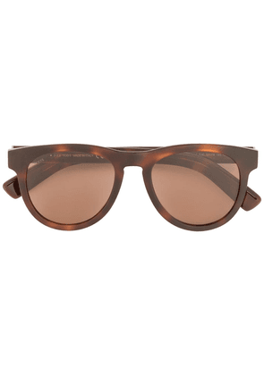 Tod's braided leather detail sunglasses - Brown