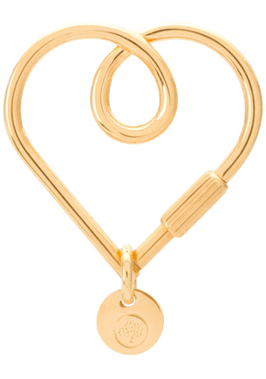 Mulberry Looped Heart Keyring - Gold