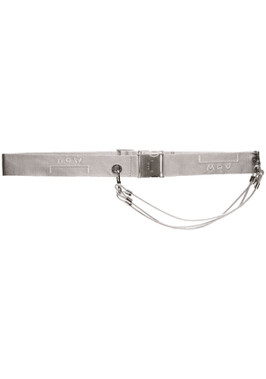 A-Cold-Wall* logo embroidered belt - Metallic