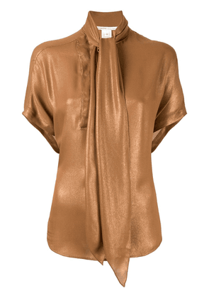 Agnona pussy bow blouse - Brown