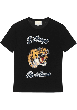 Gucci Cotton t-shirt with embroideries - Black