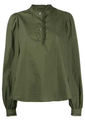 Closed puff sleeve shirt - Green