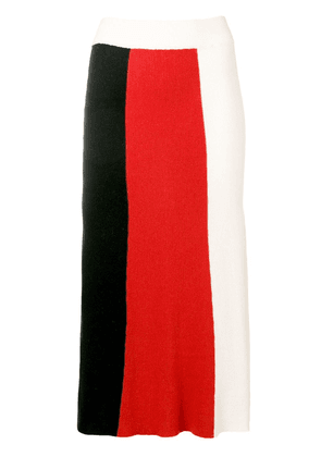 Cashmere In Love colour block knitted skirt - Black