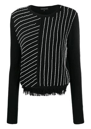 Cashmere In Love knit sweater with handcrafted beads - Black