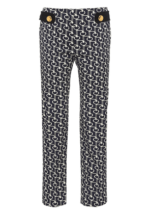 Prada key motif wool trousers - Blue