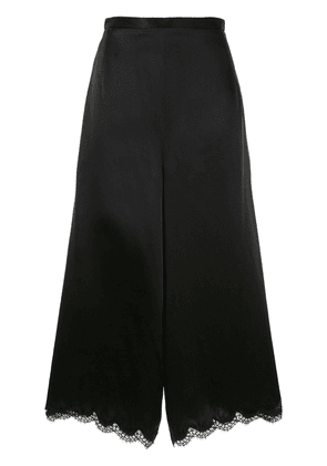Andrew Gn lace detailed trousers - Black