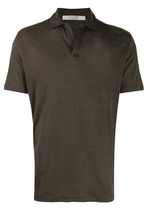 La Fileria For D'aniello open-front polo shirt - Brown
