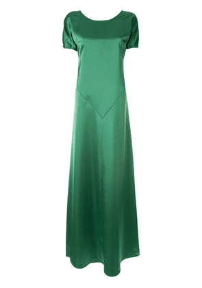 Cédric Charlier satin gown - Green
