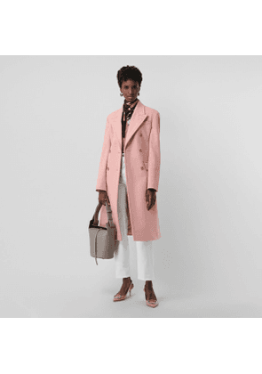 Burberry Double-breasted Wool Tailored Coat, Size: 14, Pink
