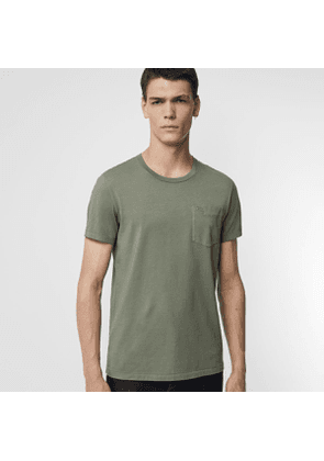 Burberry Cotton T-shirt, Size: XL, Green