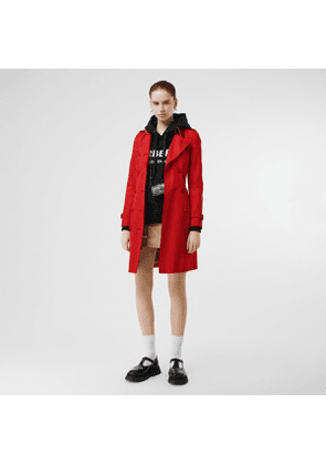 Burberry Cotton Gabardine Trench Coat, Size: 06, Red