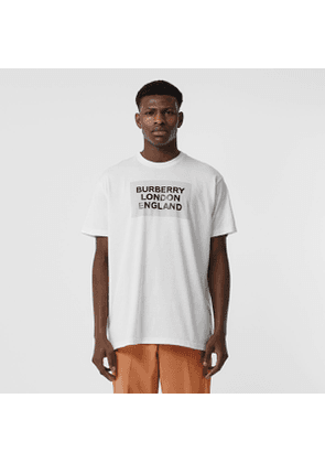 Burberry Logo Print Cotton Oversized T-shirt, Optic White
