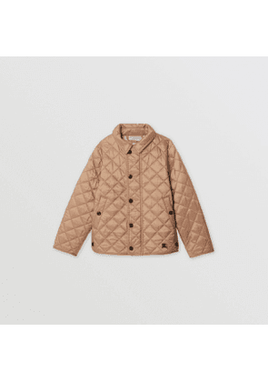 Burberry Childrens Lightweight Diamond Quilted Jacket, Size: 6Y, Brown