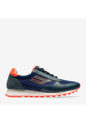 Bally Galaxy Blue, Men's Calf Leather Sneaker In Prusse