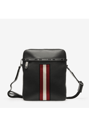 Bally Holm Black, Leather Cross Body Bag In Black